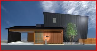 ツジデザイン 一級建築 設計事務所の和モダン住宅の完成予想図