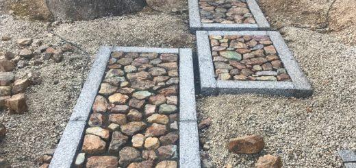 岐阜石割栗石の延段、完成