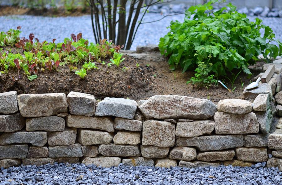 和良石の石積みをして、畑を作りました