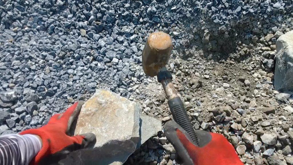 石が割れました。