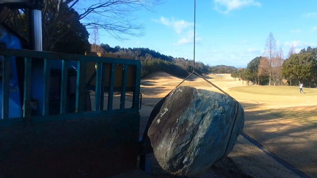 伊予青石と揖斐石の巨石を持ってきました