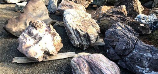 様々な産地の庭石