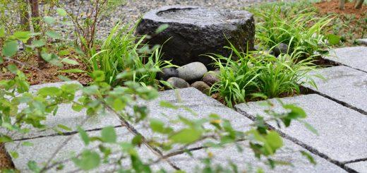 石畳と水場