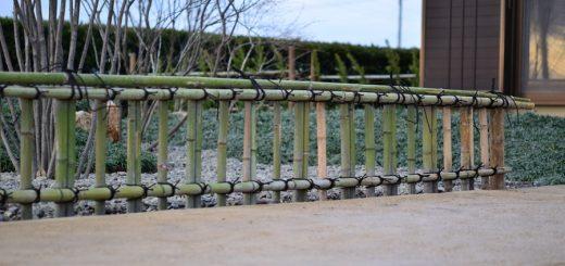 建仁寺垣のフォルムが美しい