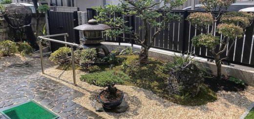 庭石を再利用した庭
