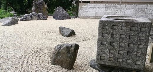 枯山水の石組