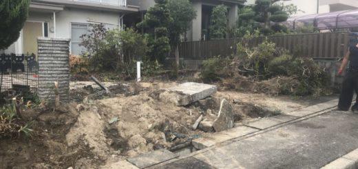 庭の解体・庭石の処分