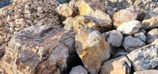 ロックガーデンの代表的な岐阜石